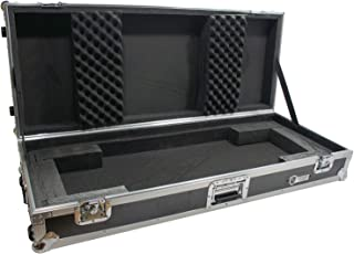 Harmony Cases HCKB61W Flight Rolling ATA Hard Custom Case for 61 Note Keyboard