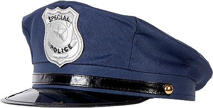 Ptit Clown 17460 Casquette de Policier Adulte Taille Ajustable Bleu