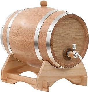 Pissente Tonneau de Stockage de Vin Pratique, Baril de Vin Vintage Distributeur de Vin en Bois avec Robinet pour Maison Re...