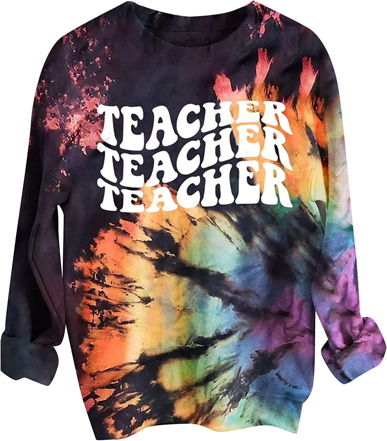 YSLMNOR Fall Tie Dye Sweatshirts Sleeve Fashion for Ranking TOP8 Womens Limited time trial price Long