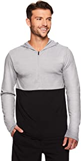 Gaiam Men's 1/4 Zip Up Activewear Pullover Hoodie - Long Sleeve Running & Yoga Sweater
