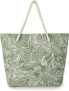 SONINLAW Women Beach Bag Travel Bohemian Shoulder Bag Large Tote Bag with Inner Pocket Bridal Party Bags- Rope Handles