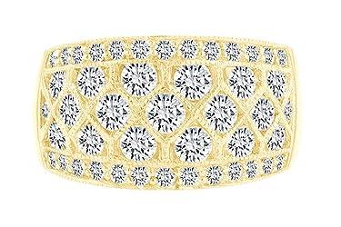 IGI Certified 1.96 Carat (cttw) Round Shape White Natural Diamond Fashion Band Ring 18k Solid Gold