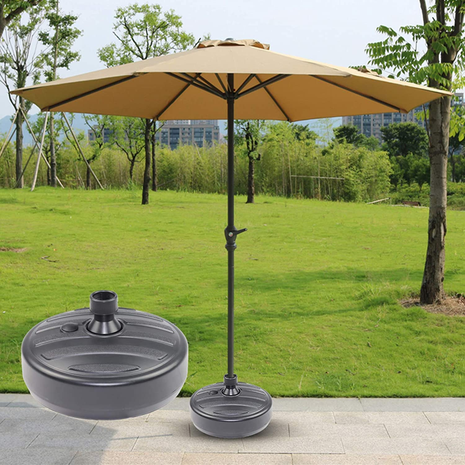 40lb Round Ranking Max 65% OFF TOP15 Plastic Patio Fillable Stand Water Umbrella San Base