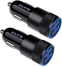 Car Charger, [2Pack] 3.4a Fast Charge Dual Port USB Cargador Carro Lighter Adapter for iPhone 13 12 11 Pro Max X XR XS Max 8 Plus 7s 6s, iPad, Samsung Galaxy S21 S10 Plus S7 j7 S10e S9 Note 8, LG, GPS