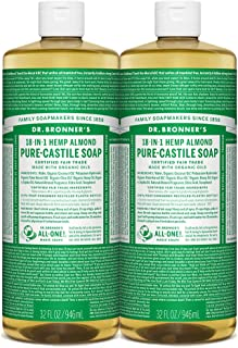 Dr. Bronner's Pure-Castile Liquid Soap Almond 32 oz. (Pack of 2)