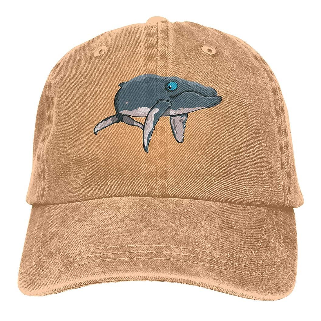 また潤滑するダイバー漫画クジラユニセックス洗浄調整可能なヴィンテージカウボーイハットデニム野球帽