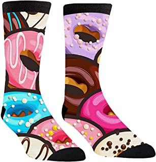 Mens Womens Tasty Glazed Donuts Socks Winter Warm Thick Cotton Cozy Crew Socks Gifts
