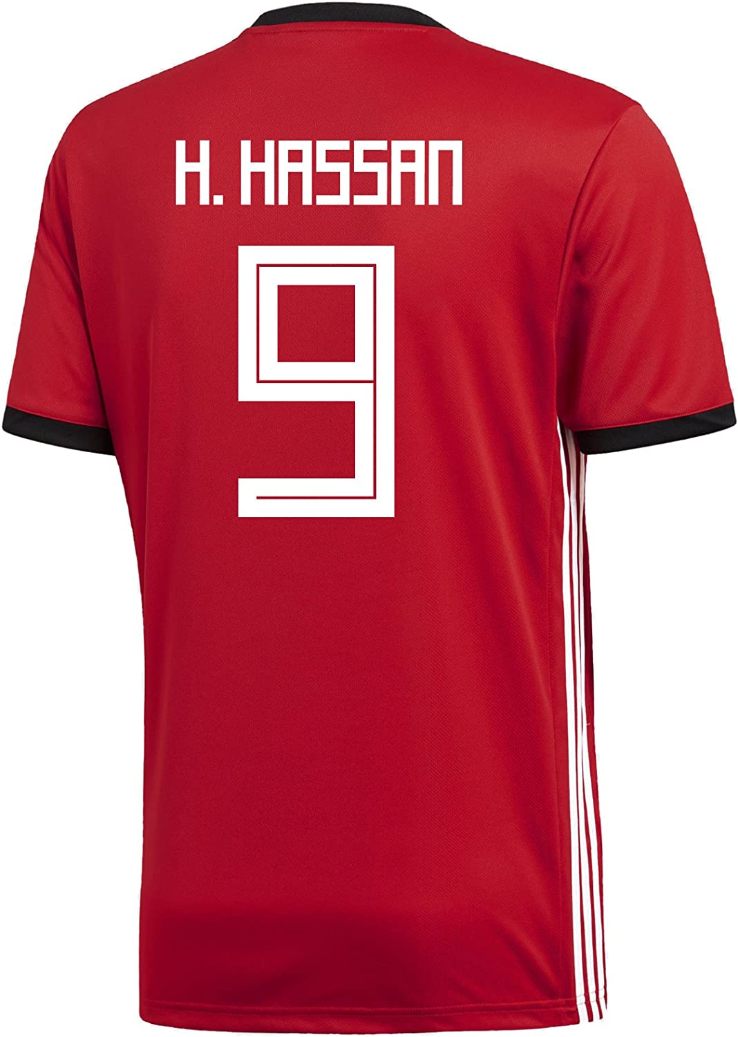 6654cfb088f9e Adidas H. Hassan 9 Egypt Home Men's Soccer Jersey World Cup Russia 2018
