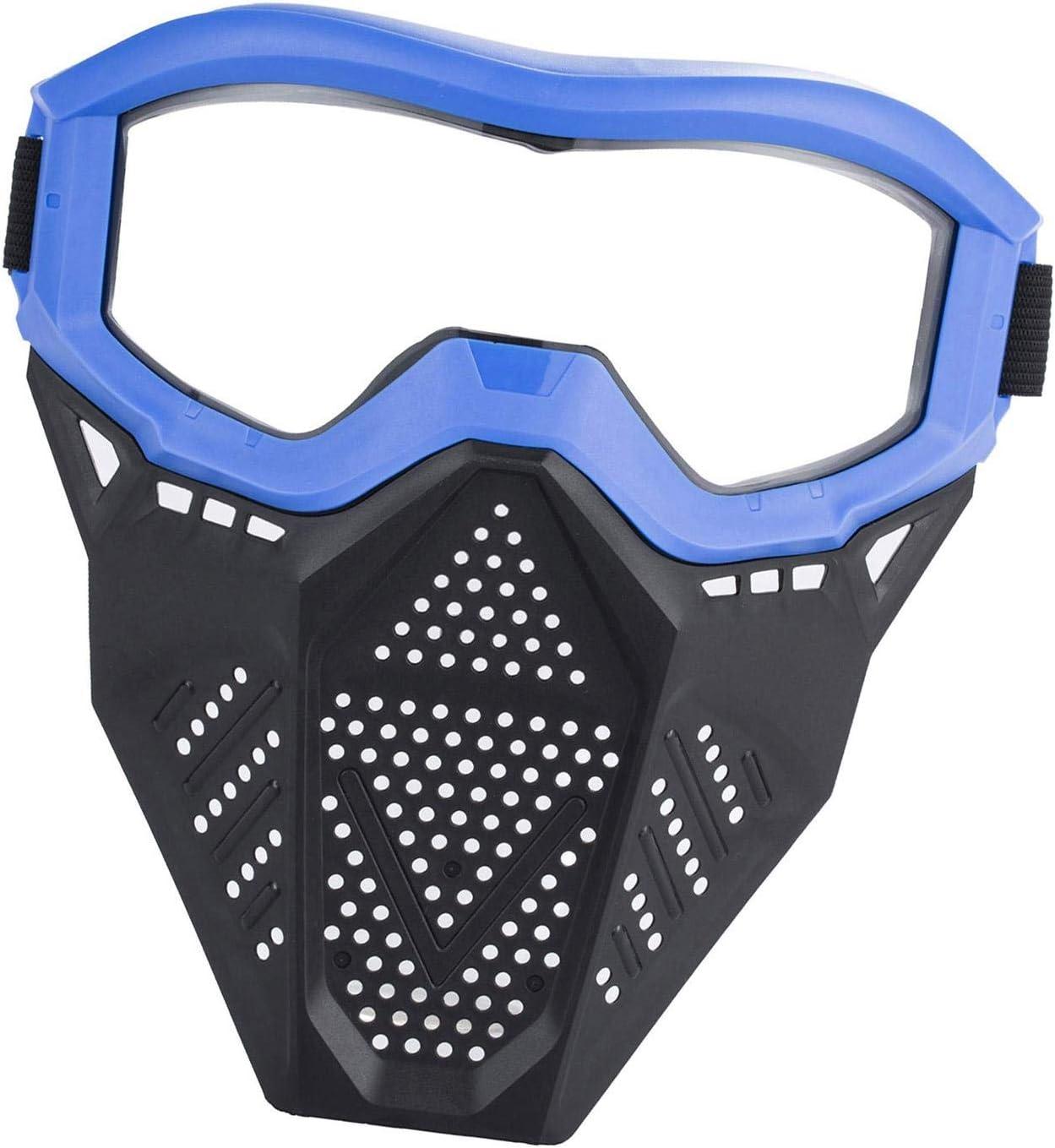Maschera Tattica Surper Giocattolo Per Equipaggiamento Protettivo Con Maschera Da Battaglia A Pallottola Morbida Protezione Per Il Viso Da Tiro Per Bambini Equipaggiamento Regolabile