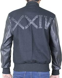 Adonis Creed Michael B Jordan XXIV Letterman Varsity Battle Wool Bomber Leather Jacket