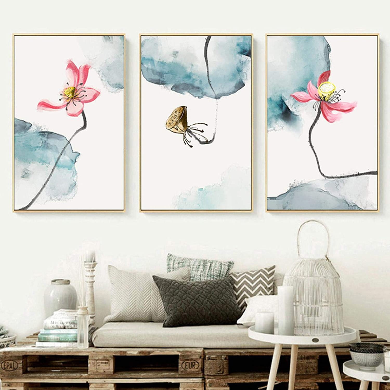 Sunsightly Print on Canvas Watercolor Floral Canva Lotus Ranking TOP9 Chinese Charlotte Mall