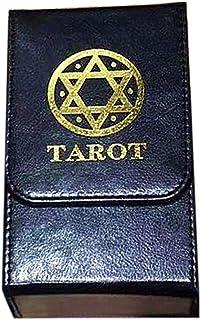 ZHANGLI Tarot Card Box - Tarot Card Double-Layer Leather Storage Box Portable - Holder Tarot Card Box Board Game Collectio...