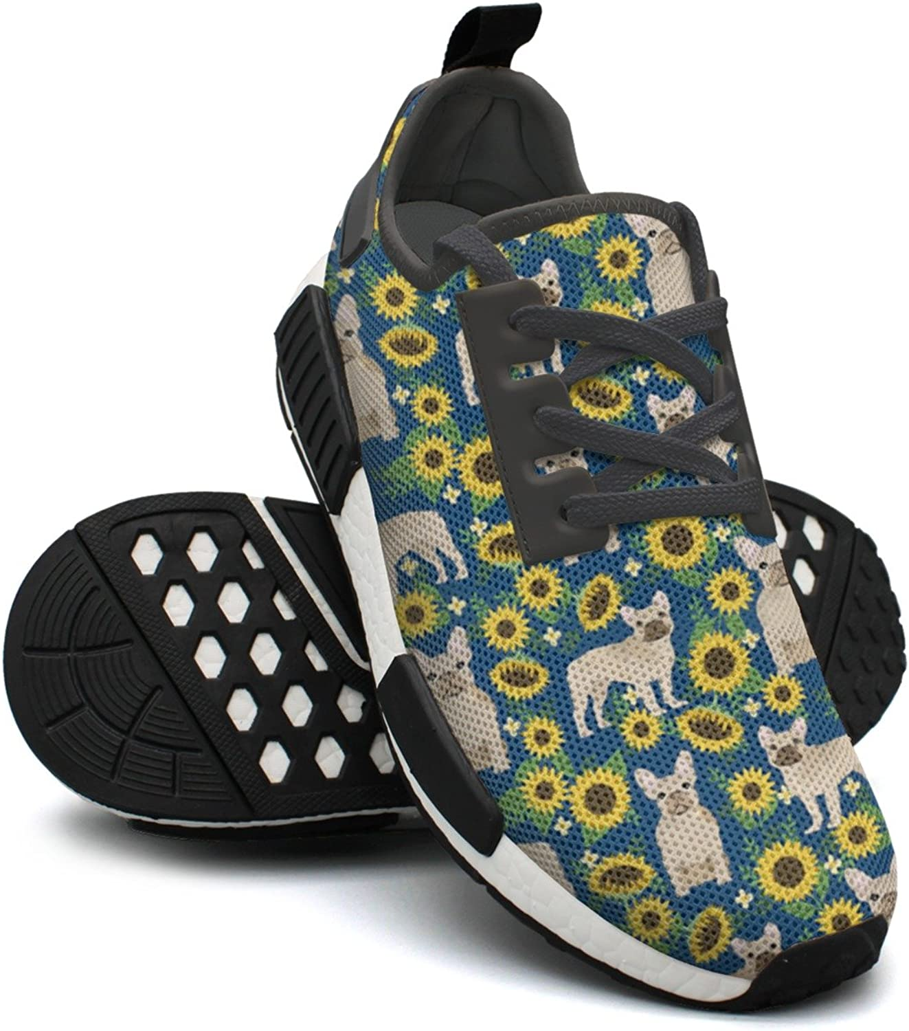 French Bulldog Sunflowers Pattern Women's Designer Lightweight Sneakers shoes Gym Outdoor Walking shoes