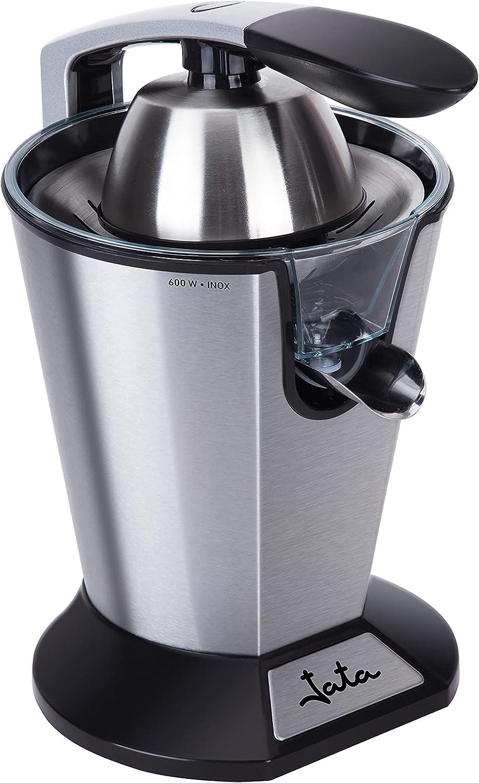 Jata JEEX1045- Exprimidor eléctrico de brazo con dos conos. Cuerpo, filtro y vertedor de acero inoxidable. Desmontable. Fácil limpieza. 600 W.