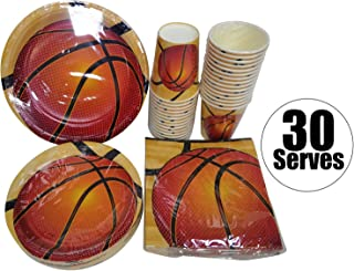 Serves 30 | Complete Party Pack | Basketball | 9