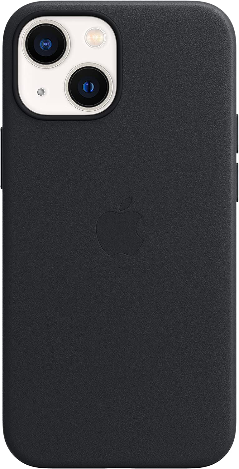 Apple Leather Case with MagSafe (for iPhone 13 Mini) - Midnight