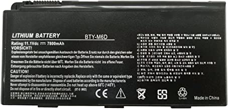 Batterymarket Replacement Laptop Battery BTY-M6D Compatible with MSI GX660 GX680 GX780 GT660 GT663 GT670 GT680 GT683 GT760 GT780 E6603 Series - 7800mAh/11.1V/9-Cells