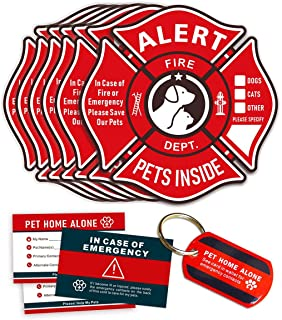 Pet Alert Stickers Static Cling Window Decals