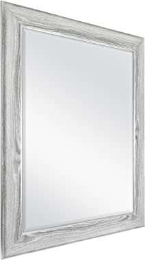 MCS 22x28 Inch Curvature, 27.5x33.5 Overall Size, Gray Woodgrain (66948) Mirror