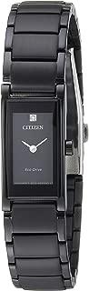 Citizen Women's Eco-Drive Japanese-Quartz Stainless-Steel Strap, Black, 14 Casual Watch (Model: EG7055-51E)