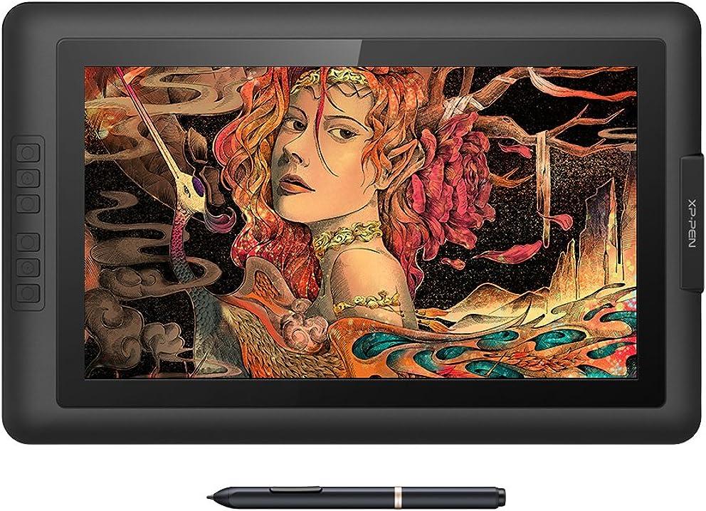 Tavoletta grafica artist15.6 con monitor ips hd 1980x1080 penna senza batteria pressione 8192 levilli xp-pen DEArtist156