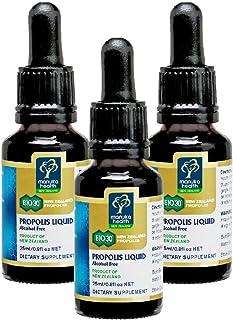 Manuka Health BIO 30 Propolis Liquid 25ml Alcohol Free 100% Pure New Zealand Bee Propolis (Pack of 3)