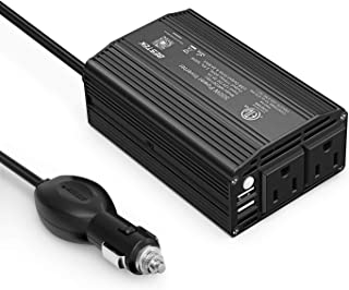 BESTEK 300W Power Inverter DC 12V to 110V AC Car Inverter with 4.2A Dual USB Car Adapter (Black)