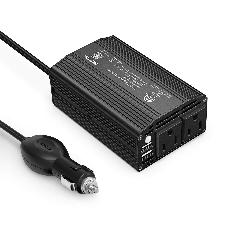 BESTEK Power Inverter Adapter Black