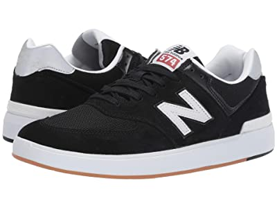 New Balance Numeric AM574 (Black/White 1) Men