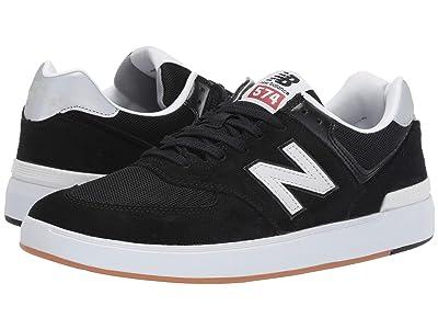 New Balance Numeric AM574 (Black/White 1) Skate Shoes