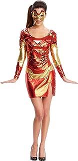 Secret Wishes Women's Marvel Universe Iron Man Rescue Costume Dress Eye Mask