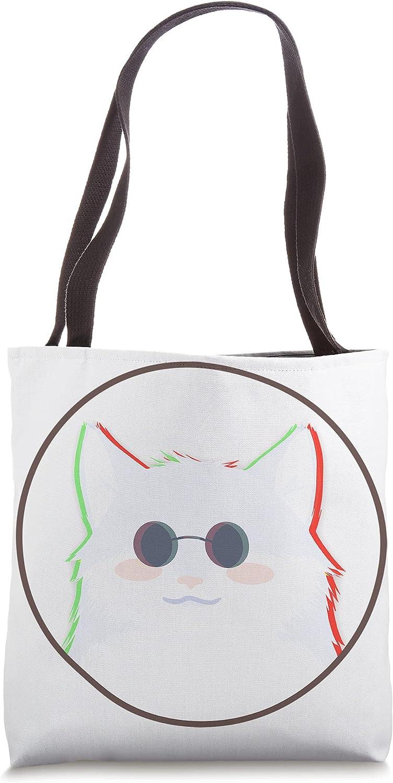 Gojo Opening large release sale White Cat Black Eyeglass Funny Bargain sale Design Tote Gift Bag