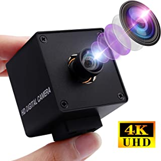 4K Webcam Mini USB Camera with 170 Degree Fisheye Lens,Ultra HD 2160P Web Camera with Sony IMX317 Sensor Minicam Aluminum Case Webcamera UVC Support,Plug&Play for Windows,Android,Mac,Linux Web Cams