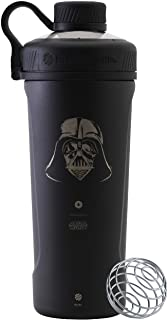 BlenderBottle Star Wars Radian Shaker Cup Insulated Stainless Steel Water Bottle with Wire Whisk, 26-Ounce, Darth Vader