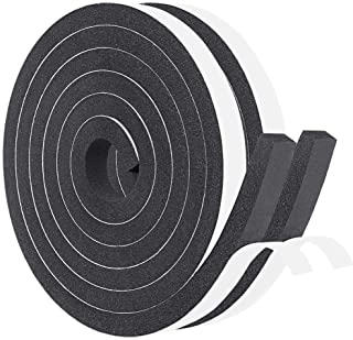 Weather Stripping Closed Cell Foam Insulation Tape Rubber Seal Strip Window Insulation 1/2 Inch Wide X 1/2 Inch Thick X 13...