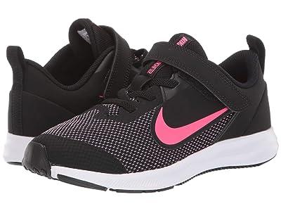 Nike Kids Downshifter 9 (Little Kid) (Black/Hyper Pink/White) Girls Shoes