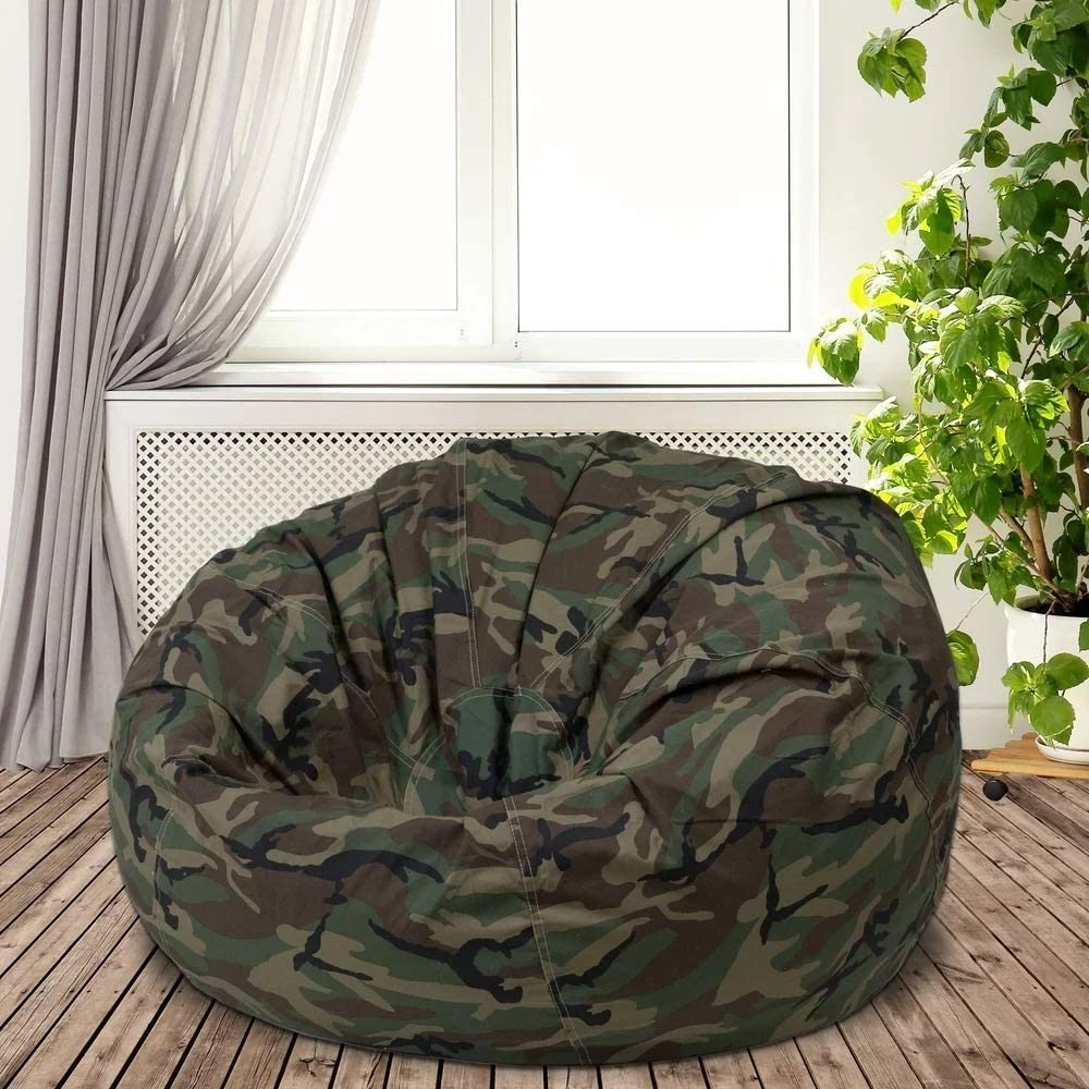 Multi Functional Oversized Bean Bag Chair for Adults   Camouflage Home Decor Cool Casual Modern   Memory Foam Cushy Soft Plush Cozy Fun Comfortable Lightweight Design Pouf Ottoman Solid