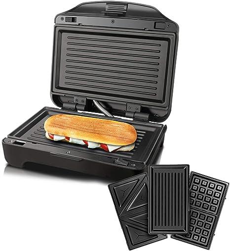 Amazon De Taurus Miami Premium Sandwichtoaster Austauschbar 900 W 0 Dezibel Kunststoff Schwarz