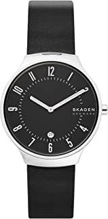 Skagen Grenen Men's Black Dial Leather Analog Watch - SKW6459