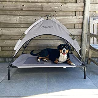 Zoofari Elevated Dog Bed with Canopy, Outdoor Dog Bed, Pet Canopy with Cot, Sun protection up to UPF 50
