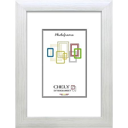 Chely Intermarket, Marco de Fotos Grandes 50x70 cm (Blanco) MOD-257, Hecho de Madera MDF, Ancho de Bastidor 1,90 cm con Acabado Elegante (257-50x70-1,70)
