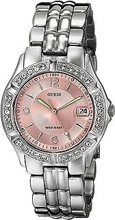 ساعة مرصعة بالكريستال بلونين من الستانلس ستيل للنساء من جيس