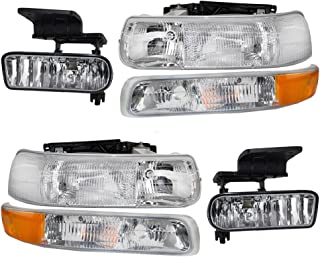 BROCK 6 Pc Set of Headlights Fog Lights & Side Signal Marker Lamps for Chevrolet Pickup