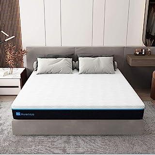 Avenco Premium - Colchón de espuma fría (18 cm), Esponja., negro y blanco, 180 x 200 cm