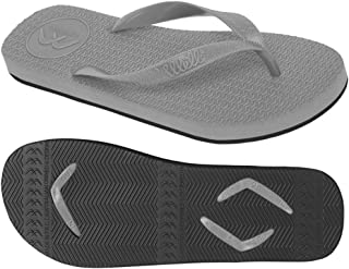 Boomerangz Regular Fit Interchangeable Flip Flops | Slippers | Thongs (Men's) Colour: Grey/Black