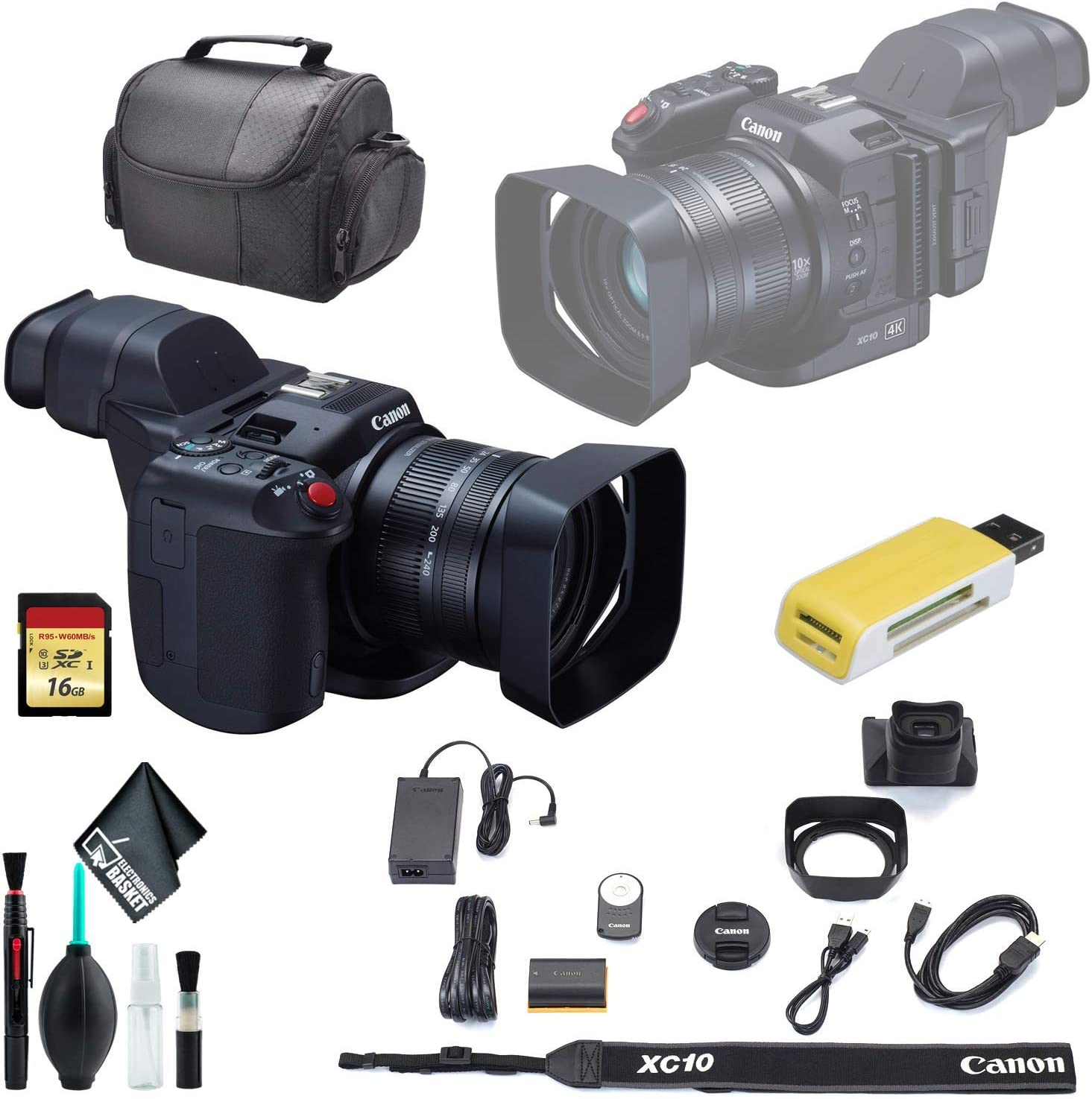 Canon XC10 4K Professional Camcorder It is very popular Carrying Soft Ranking TOP2 Clea Case +