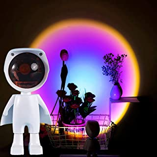 WOERD Projection Rainbow Lights 360 Degree Robot Rotation Rainbow Projection Lamp LED for Taking Photos Photography Home D...