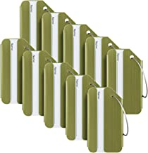 Travelambo Luggage Tags & Bag Tags Stainless Steel Aluminum Various Colors (army green 10 pcs set)