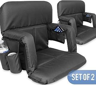 KHOMO GEAR 体育场漂白剂和长椅座椅,配有背带 - 黑色 - 2 件套